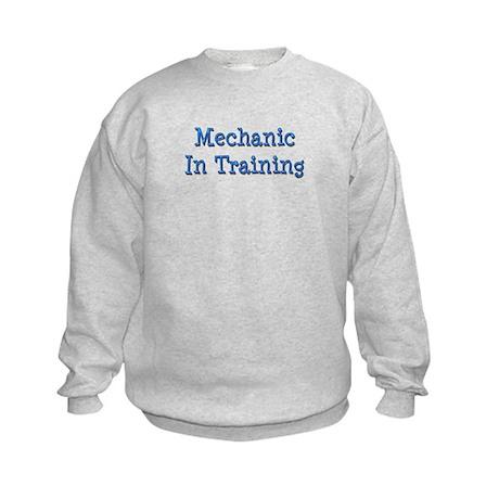 Blue Mechanic In Training Kids Sweatshirt