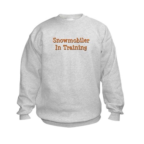 Snowmobiler In Training Kids Sweatshirt