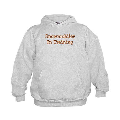 Snowmobiler In Training Kids Hoodie