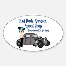 Rat Rodz Kustom Speed Shop Oval Decal