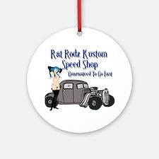 Rat Rodz Kustom Speed Shop Ornament (Round)