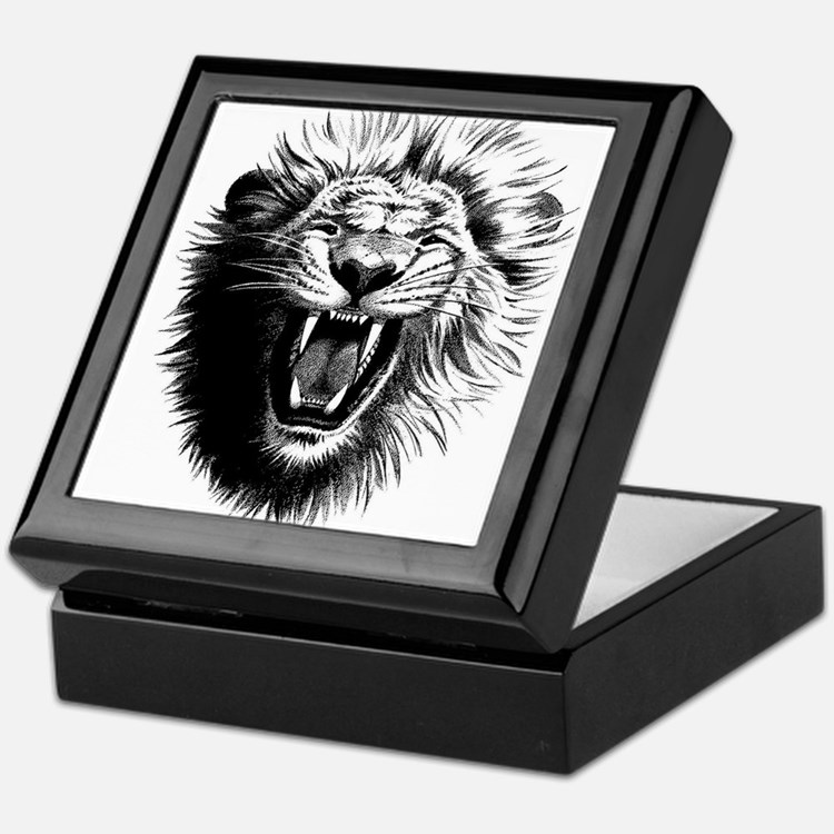 Lion drawing Keepsake Box