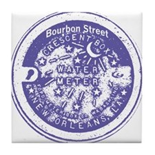 Bourbon St Water Meter Lid Tile Coaster