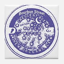 Bourbon St Water Meter Lid Tile Coaster