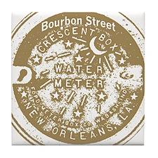 Water Meter Lid Bourbon St Ta Tile Coaster