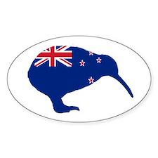 New Zealand Kiwi Oval Bumper Stickers