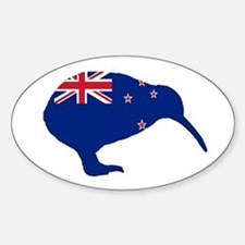 New Zealand Kiwi Oval Bumper Stickers