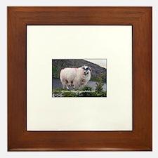 Unique Cute sheep Framed Tile