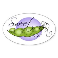 Sweet Baby Pea Oval Decal