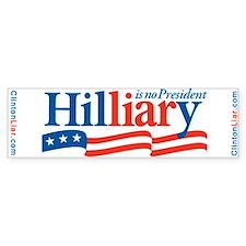 HIL-LIAR-Y Bumper Bumper Sticker