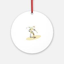 Pastel tone oldchool skater illustr Round Ornament