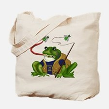 Born To Fly Fish Frog Tote Bag