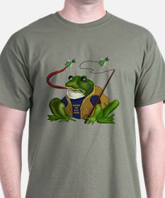 Born To Fly Fish Frog T-Shirt