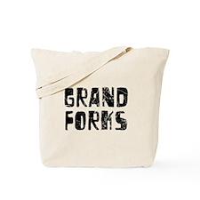 Grand Forks Faded (Black) Tote Bag