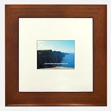 Cute Cliffs of moher Framed Tile