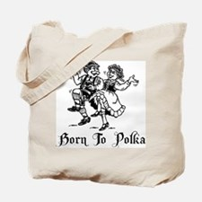 Born To Polka Tote Bag