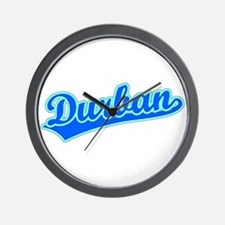 Retro Durban (Blue) Wall Clock