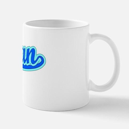 Retro Durban (Blue) Mug