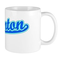 Retro Edmonton (Blue) Small Mugs