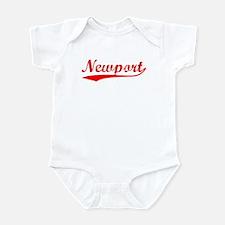 Vintage Newport (Red) Infant Bodysuit