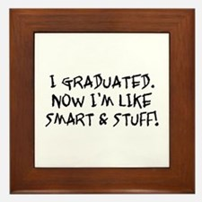 Smart & Stuff Graduate Framed Tile