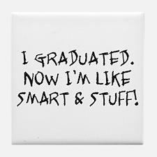 Smart & Stuff Graduate Tile Coaster