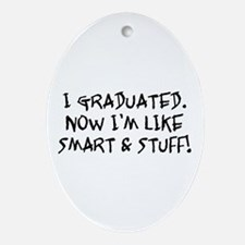 Smart & Stuff Graduate Oval Ornament