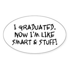Smart & Stuff Graduate Oval Decal