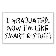 Smart & Stuff Graduate Rectangle Decal