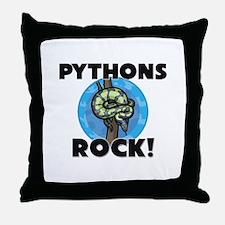 Pythons Rock! Throw Pillow