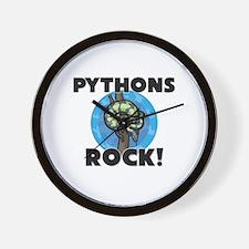 Pythons Rock! Wall Clock