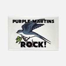Purple Martins Rock! Rectangle Magnet