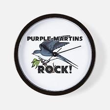 Purple Martins Rock! Wall Clock