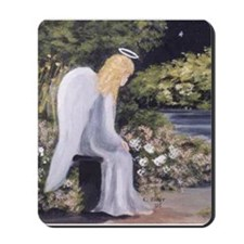 Angel in Garden Mousepad