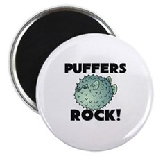 Puffers Rock! Magnet