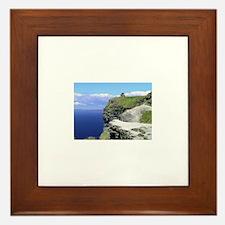 Unique Cliffs of moher Framed Tile