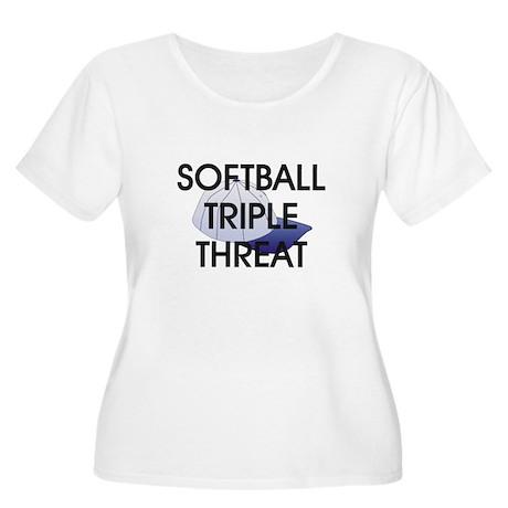 TOP Softball Triple Threat Women's Plus Size Scoop