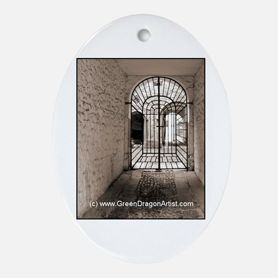 Cool Irish doors Oval Ornament