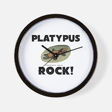 Platypus Rock! Wall Clock