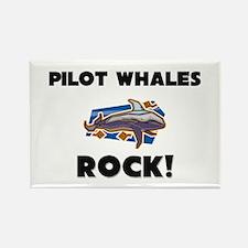 Pilot Whales Rock! Rectangle Magnet