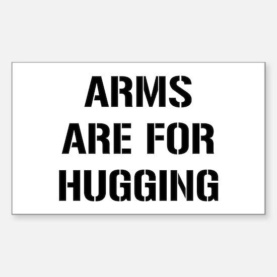Arm Hugging Sticker (Rectangle)