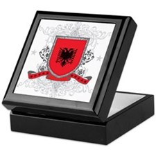 Albania Shield Keepsake Box