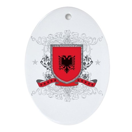 Albania Shield Oval Ornament