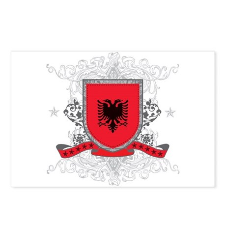 Albania Shield Postcards (Package of 8)
