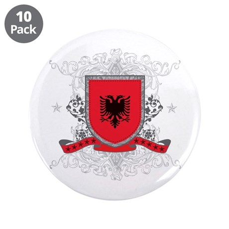 "Albania Shield 3.5"" Button (10 pack)"