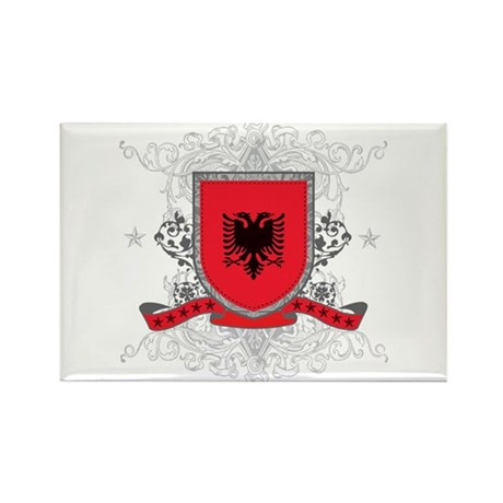 Albania Shield Rectangle Magnet (100 pack)
