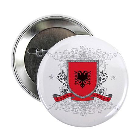 """Albania Shield 2.25"""" Button"""