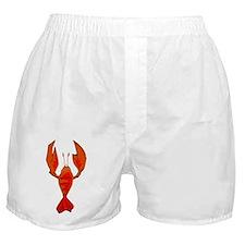 Crawfish Fleur De Lis Shape Boxer Shorts