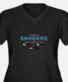 Bernie Sande Women's Plus Size V-Neck Dark T-Shirt