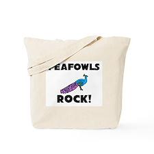 Peafowls Rock! Tote Bag